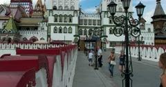 Kremlin in Izmailovo, Izmailovsky Market, Moscow, Russia Stock Footage