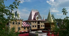 "Complex ""Kremlin in Izmailovo"", trade pavilions in  form of seigniorial chambers Stock Footage"