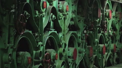 Paper production machine. Paper recycling. Stock Footage