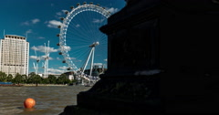 4K time lapse revealing the stunning London Eye Stock Footage