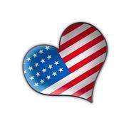 US heart illustration design isolated over a white background Stock Illustration