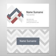 Business card template with background pattern Stock Illustration