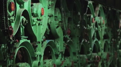 Paper production Maschine. Paper recycling. Stock Footage