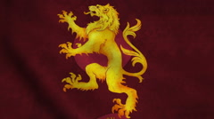 Realistic Ultra-HD flag of the Lion waving in the wind. Seamless loop with Stock Footage
