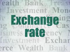 Money concept: Exchange Rate on Digital Data Paper background Stock Illustration