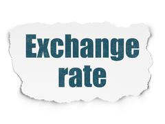 Banking concept: Exchange Rate on Torn Paper background - stock illustration