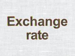 Money concept: Exchange Rate on fabric texture background - stock illustration