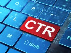 Business concept: CTR on computer keyboard background - stock illustration