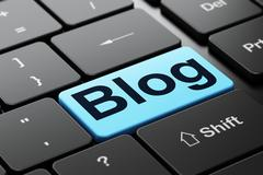 Web development concept: Blog on computer keyboard background Stock Illustration