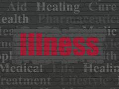 Health concept: Illness on wall background Stock Illustration