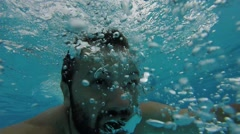Man drowns Stock Footage