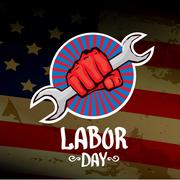 Usa labor day vector background - stock illustration