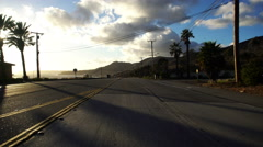 4K Driving Plates PCH Front View 10 Malibu Pacific Coast Highway North Bound. Stock Footage