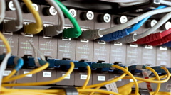Inside view on data room. Close up Stock Footage