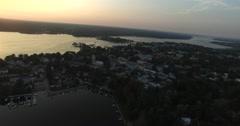 Aerial view on the city of Tammisaari, in Raasepori, Uusimaa, Finland Stock Footage
