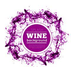 Red wine splash. - stock illustration