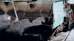 Tarmac Road Laying Machine - stock footage