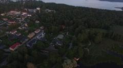 Aerial 360 view on the city of Tammisaari, in Raasepori, Uusimaa, Finland Stock Footage