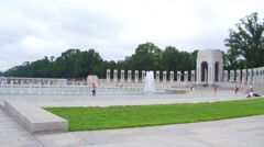 Fountains WWII Memorial Washington DC - stock footage