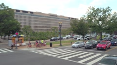 Lyndon Baines Johnson Department of Education Building Stock Footage