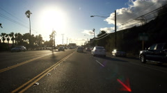 4K Driving Plates PCH Front View 06 Malibu Pacific Coast Highway North Bound. Stock Footage