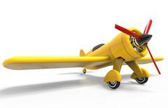Propeller plane isolated on white. 3D render Stock Illustration