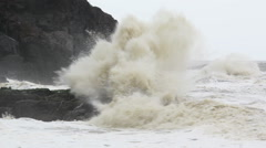 Violent Ocean Waves During Monsoon Arkistovideo