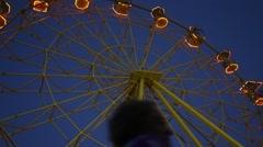 Ferris wheel by night Stock Footage