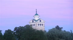 Time-lapse of the church, at a evening, in Tammisaari, Finland Stock Footage