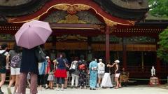 Dazaifu - Visitors at Dazaifu Tenmangu Shrine. 4K resolution. Stock Footage