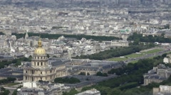 Hotel Des Invalides Aerial Shot, Paris Stock Footage