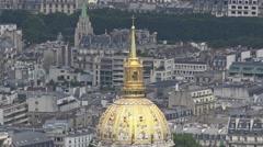 Famous Dome des Invalides, Tomb Of Napoleon, Paris Stock Footage