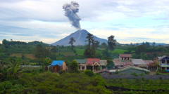 Sinubung volcano eruption North Sumatra Stock Footage