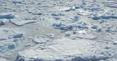 Large Ice chunks on the sea of Spitsbergen Stock Footage