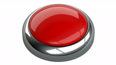 Red button. 3D animation Stock Footage