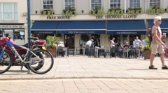 Lloyds (Wetherspoons) in Market Square, Warwick, Warwickshire, UK Stock Footage