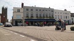 Market Square, Warwick, Warwickshire, UK Stock Footage