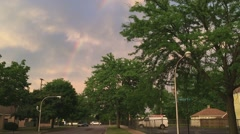 Chicago rainbow fading timelapse Stock Footage