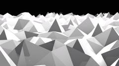 Abstract seamless triangular crystalline background animation Stock Footage