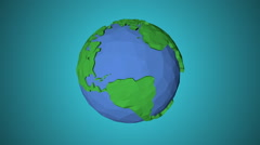Seamless looping low poly 3d world Stock Footage