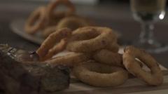 Onion Rings Recipe Stock Footage