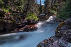 Virginia Creek Cascades Long Exposure Stock Photos