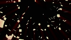 Golden square background animation Stock Footage