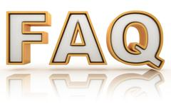 FAQ - frequently asked question abbreviation, golden letter sign Stock Illustration
