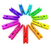 Clothes pins color wheel Stock Illustration