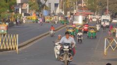 Busy traffic on Nehru bridge,Ahmedabad,India Stock Footage