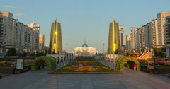 President Palace Akorda at Astana, Republic Kazakhstan Stock Footage