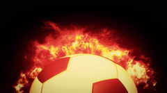 Animation realistic Soccer ball Stock Footage