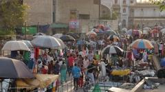 Busy traffic on Maidan Shahi square,Ahmedabad,India Stock Footage