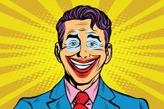 Clown smile joker face Piirros